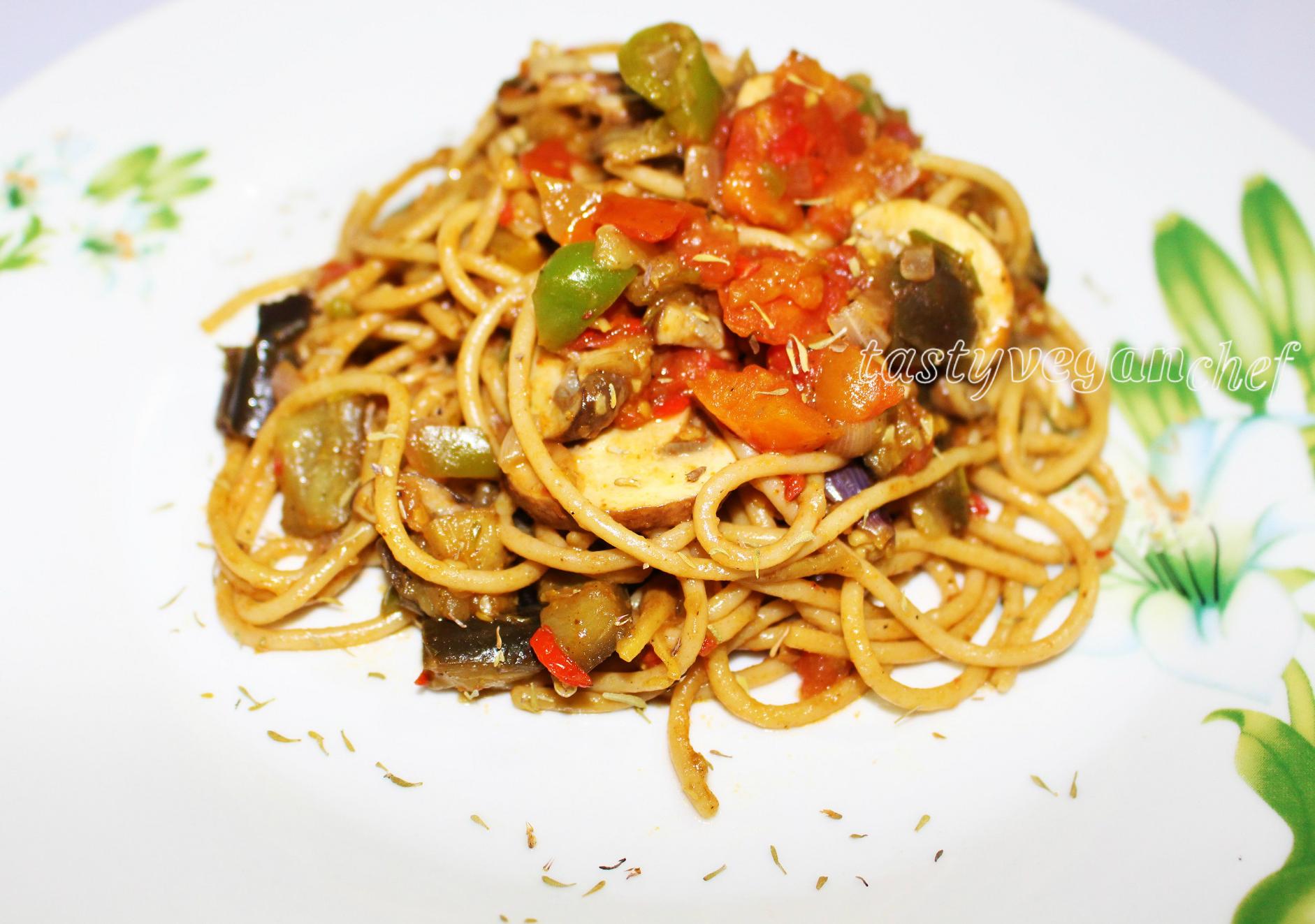Eggplant And Tomato Pasta Recipe — Dishmaps